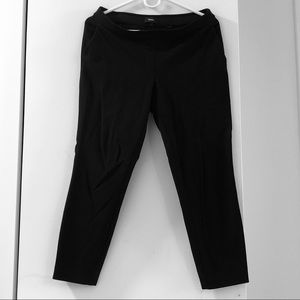 Theory versatile black cropped stretch ponte pant
